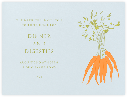 Carrots - Paperless Post - Dinner Party Invitations