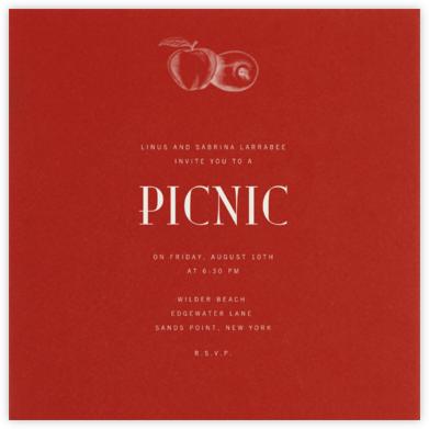 Crimson (Square) - Paperless Post - Picnic Invitations