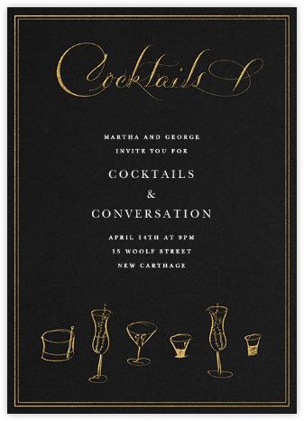 Cocktails - Bernard Maisner - Happy Hour Invitations