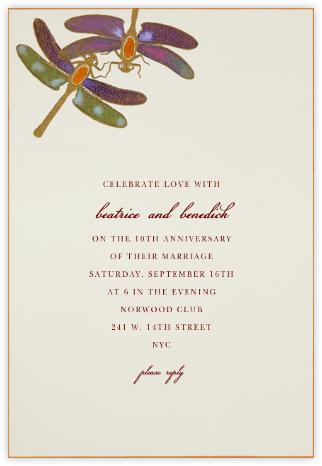 Dragonflies - Orange Purple - Bernard Maisner - Celebration invitations
