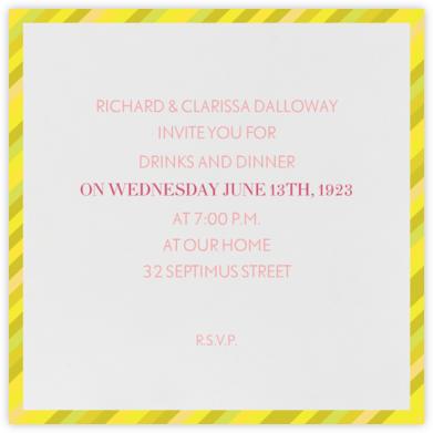 Lollipop - Lemon - Mr. Boddington's Studio - Dinner Party Invitations