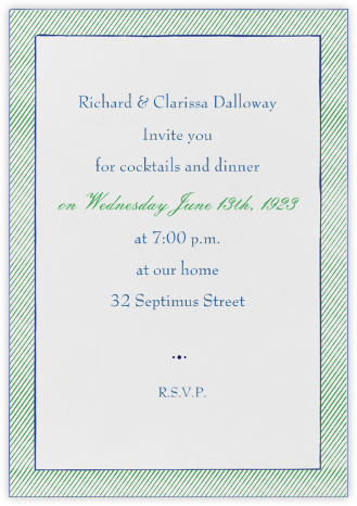 The Prepster - Great Scot - Mr. Boddington's Studio - Dinner party invitations