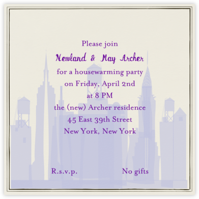 I Love New York - Wisteria - Mr. Boddington's Studio - Housewarming party invitations
