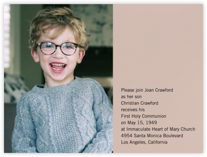 Photo Spread - Rose - Paperless Post - First communion invitations