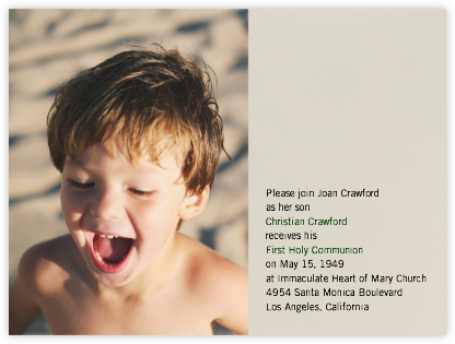 Photo Spread - Santa Fe - Paperless Post - First communion invitations