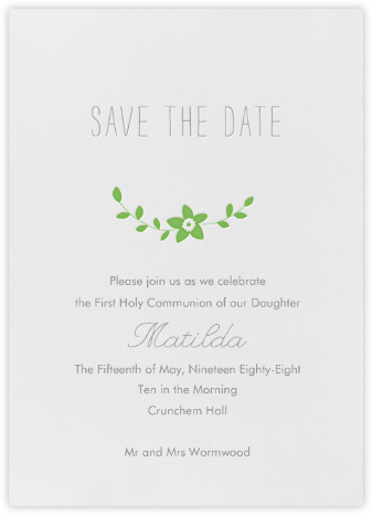 Vintage Flower - Meadow - Linda and Harriett - First communion invitations