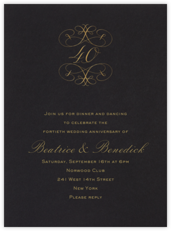 40th Anniversary - Bernard Maisner - Celebration invitations