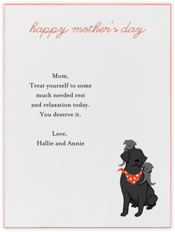 Mommy Labrador - Paperless Post - Mother's Day Cards