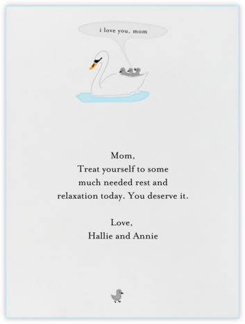 Mommy Swan - Paperless Post - Mother's Day Cards