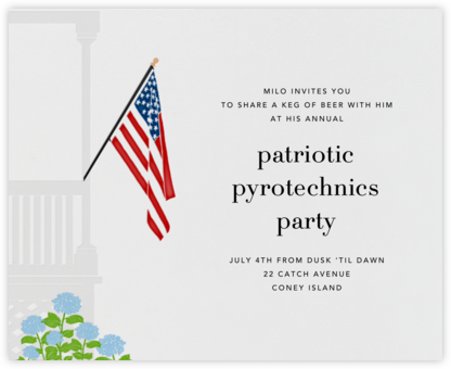 Porch Flag - Paperless Post - Invitations