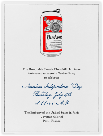 Bud Can - Paperless Post - 4th of July invitations