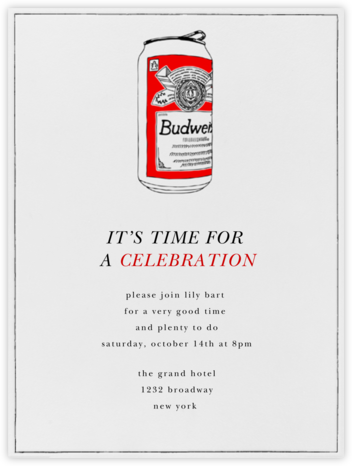 Bud Can - Paperless Post - Happy Hour Invitations