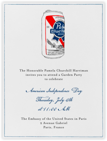 PBR Can - Paperless Post - Online Party Invitations