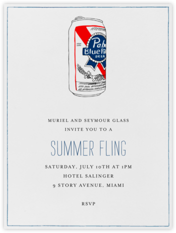 PBR Can - Paperless Post - Happy Hour Invitations