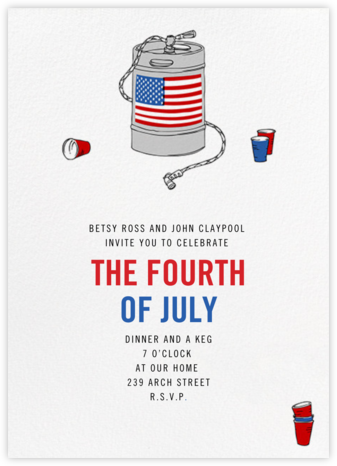 Keg with Flag - Paperless Post - Invitations