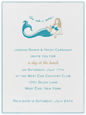 Mermaid - Opal - Paperless Post - Summer entertaining invitations