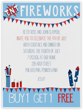 Fireworks Stand - Paperless Post - Invitations