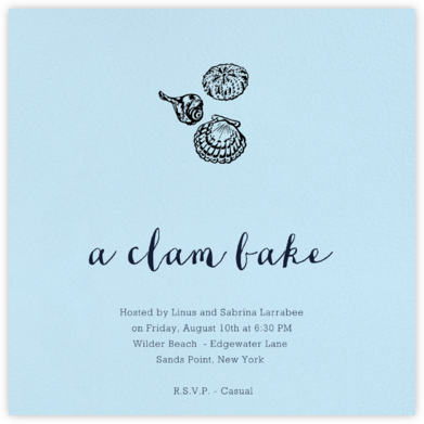 Glacier (Square) - Paperless Post - Summer entertaining invitations