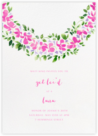 Lei - Paperless Post - Online Party Invitations