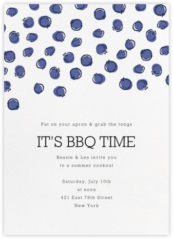 Blueberries - Paperless Post - Summer entertaining invitations