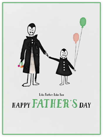 Vampire Son - Mr. Boddington's Studio - Father's Day Cards