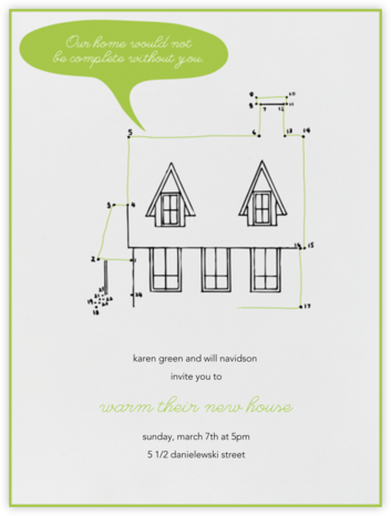 Connect The Dots - Paperless Post - Housewarming party invitations