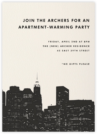 Cityscape - Paperless Post - Housewarming party invitations