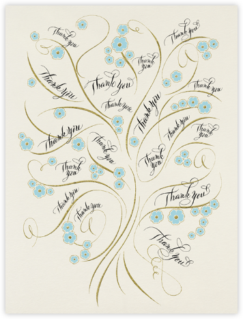 Thank You Tree - Bernard Maisner - Bernard Maisner Invitations