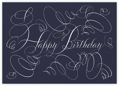 Happy Birthday - Navy - Bernard Maisner - Birthday Cards