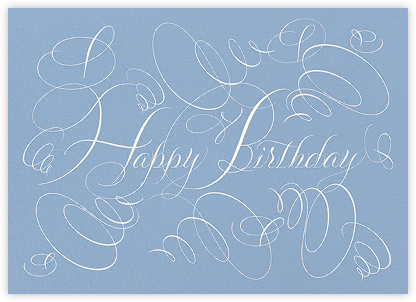 Happy Birthday - Blue - Bernard Maisner - Birthday Cards for Her
