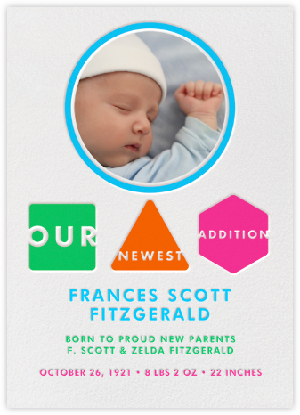Our Newest Addition - Paperless Post - Birth Announcements