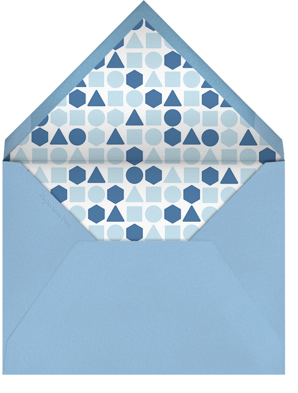 Baby Gear - Blue - Paperless Post - Baby shower - envelope back