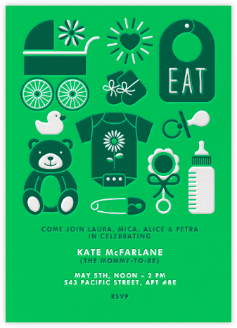 Baby Gear - Green - Paperless Post - Baby Shower Invitations