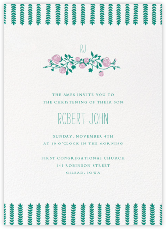 Barton Park (Tall) - Paperless Post - Baptism invitations