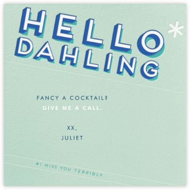 Hello Dahling - Paperless Post - Online greeting cards