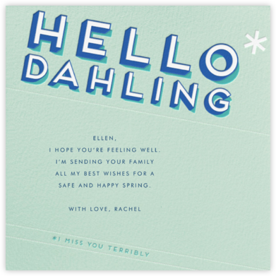 Hello Dahling - Paperless Post - Just Because Cards