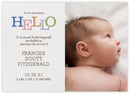 Storybook Hello - Paperless Post - Birth Announcements