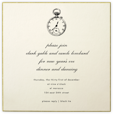 Thurloe - Paperless Post - New Year's Eve Invitations