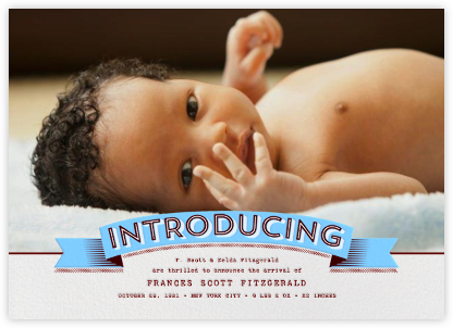 Introducing Banner - blue - Paperless Post - Birth announcements