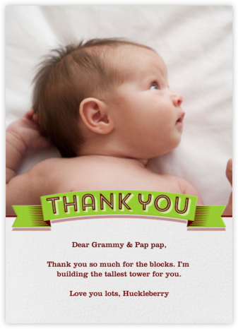 Thank You Banner - Paperless Post - Kids' thank you notes