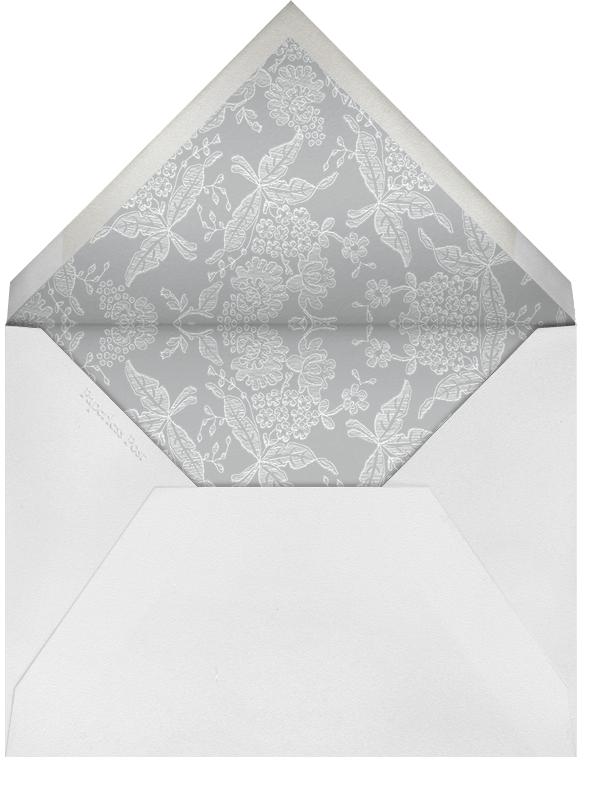 Hydrangea Lace I (Save The Date) - Gray - Oscar de la Renta - Envelope