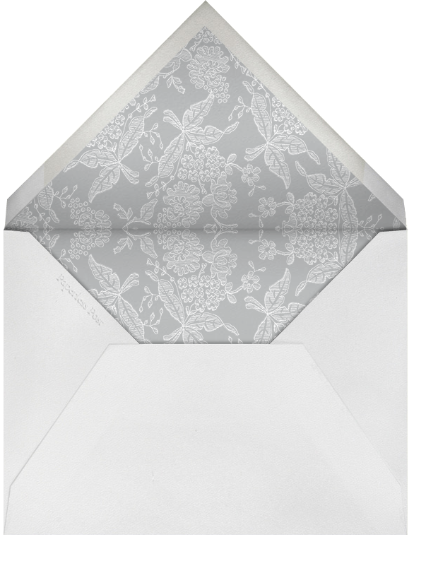 Hydrangea Lace I (Thank You) - Gray - Oscar de la Renta - Wedding stationery - envelope back
