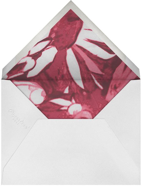 Watercolor Floral - Red - Oscar de la Renta - Rehearsal dinner - envelope back