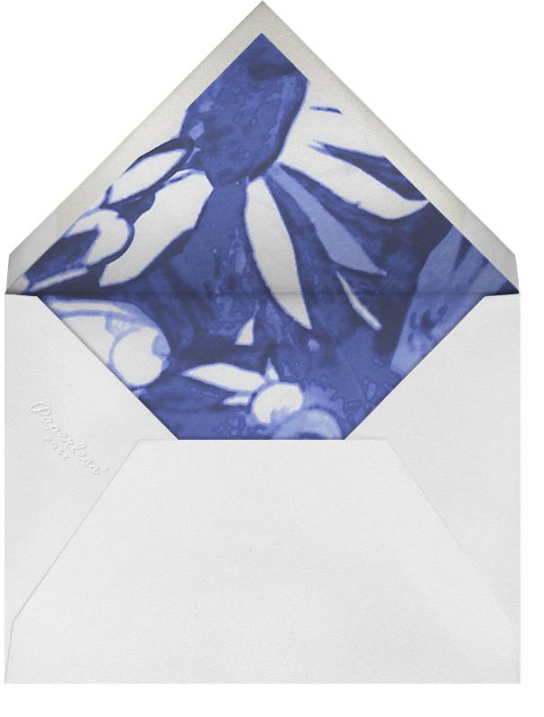 Watercolor Floral - Blue - Oscar de la Renta - Rehearsal dinner - envelope back