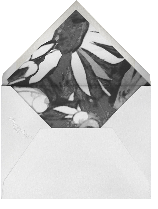 Watercolor Floral - Black - Oscar de la Renta - Rehearsal dinner - envelope back