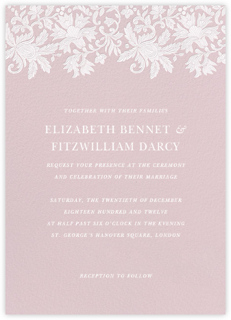 Leaf Lace I - Pink - Oscar de la Renta - Wedding Invitations