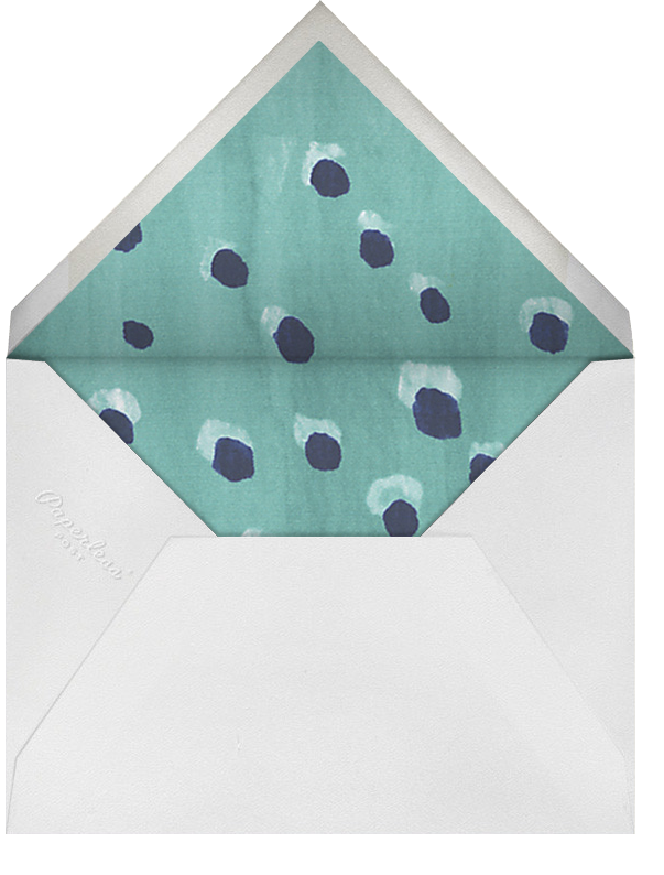 Blue Note - Oscar de la Renta - Rehearsal dinner - envelope back