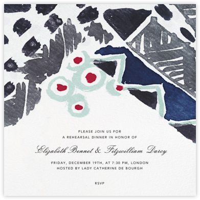 Blue Note - Oscar de la Renta - Wedding Weekend Invitations
