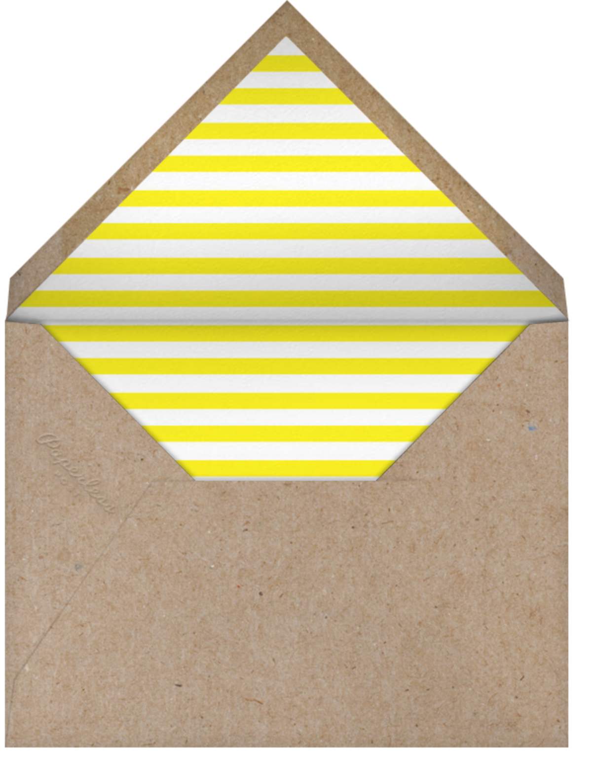 Spring Flowers - Yellow - The Indigo Bunting - Mother's Day - envelope back