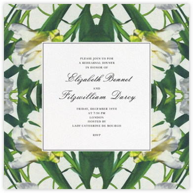 Parrot Tulip - Oscar de la Renta - Wedding Weekend Invitations